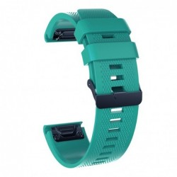 Curea silicon compatibila Garmin Fenix 6X, 26mm, Green/Black