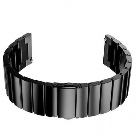 Curea din metal compatibila cu Huawei Watch GT 2 46mm, Telescoape QR, Negru