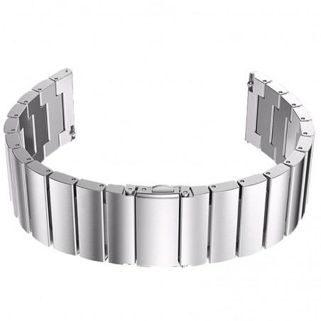 Curea din metal compatibila cu Huawei Watch GT 2 46mm, Telescoape QR, Silver