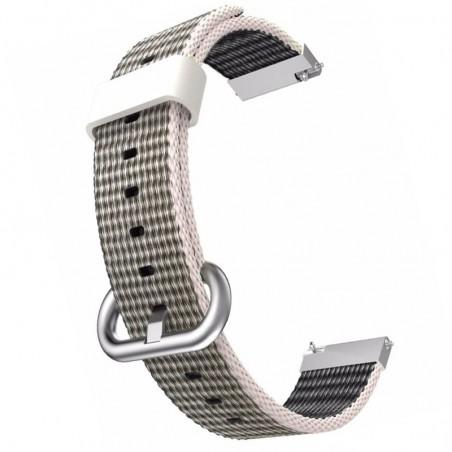 Curea textila, compatibila Samsung Galaxy Watch 46mm, telescoape QR, Gri