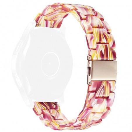Curea polimer, compatibila Samsung Galaxy Watch Active 2, telescoape Quick Release, Lava River