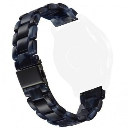 Curea polimer compatibila cu Samsung Galaxy Watch3, 45mm, Telescoape QR, 22mm, Dark Sea