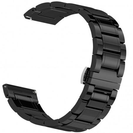 Curea ceramica, compatibila Samsung Galaxy Watch3, 45mm, telescoape Quick Release, 22mm, Negru