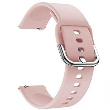 Curea silicon, compatibila Huawei Watch GT 2 42mm, telescoape Quick Release, Apricot