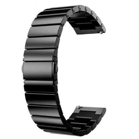 Curea din metal compatibila cu Huawei Watch GT 2 Pro, Telescoape Quick Release, 22mm, Negru