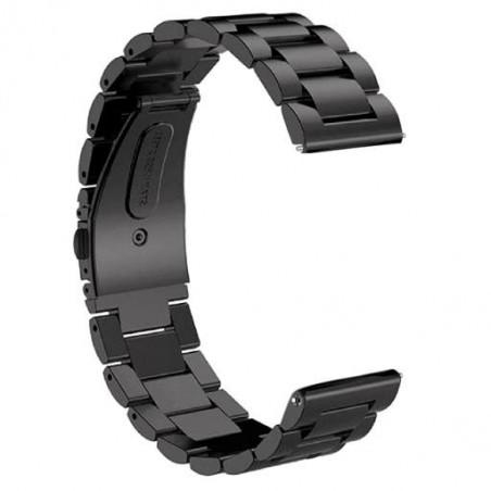 Curea metalica compatibila Huawei Watch GT 2 Pro, telescoape Quick Release, Negru
