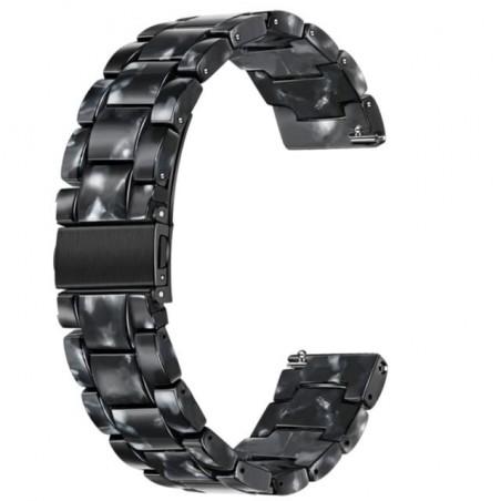 Curea polimer compatibila cu Huawei Watch GT 2 Pro, Telescoape QR, 22mm, Black Spot