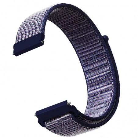 Curea material textil, compatibila cu Garmin Vivoactive 4, Telescoape QR, 22mm, Savoy Blue