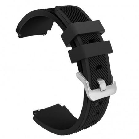 Curea silicon, compatibila Garmin Vivoactive 4, telescoape Quick Release, 22mm, Negru