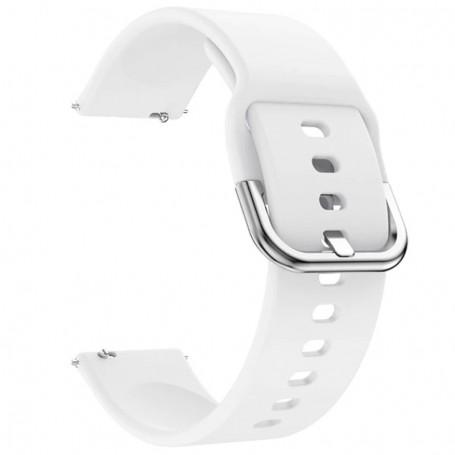Curea din silicon compatibila cu Honor Magic Watch 2 46mm, Telescoape QR, 22mm, Daisy White