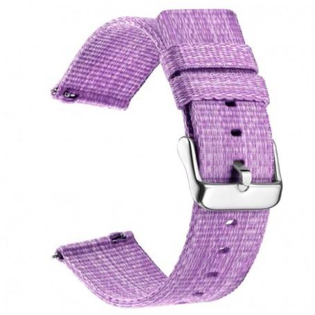 Curea material textil, compatibila cu Honor Magic Watch 2 46mm, Telescoape QR, 22mm, Lilac Purple